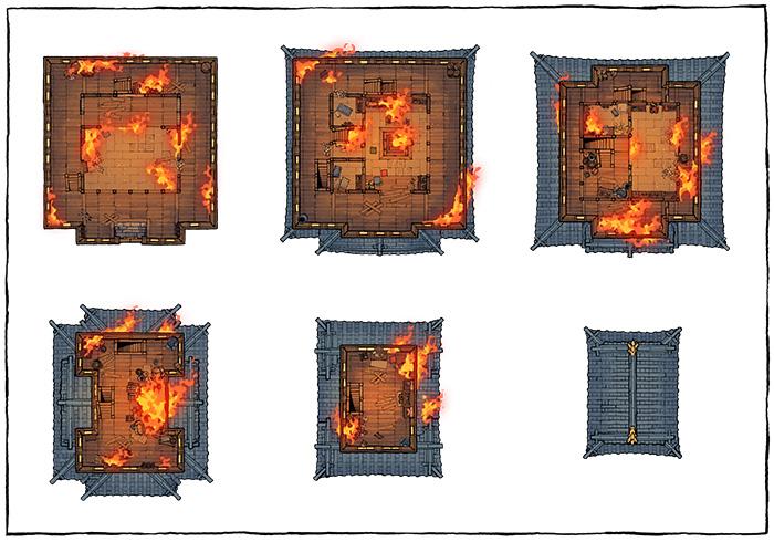 Japanese Castle Oshiro battle map - Ablaze map variant