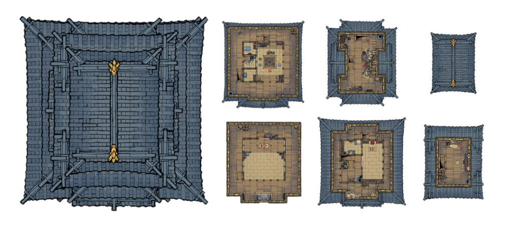 Japanese Castle Oshiro battle map - Banner