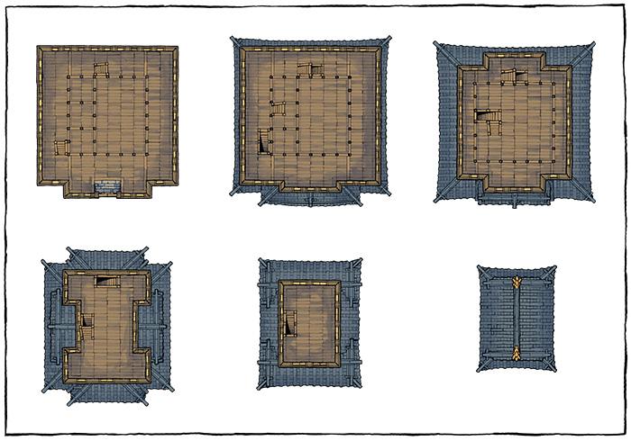 Japanese Castle Oshiro battle map - Unfurnished map variant