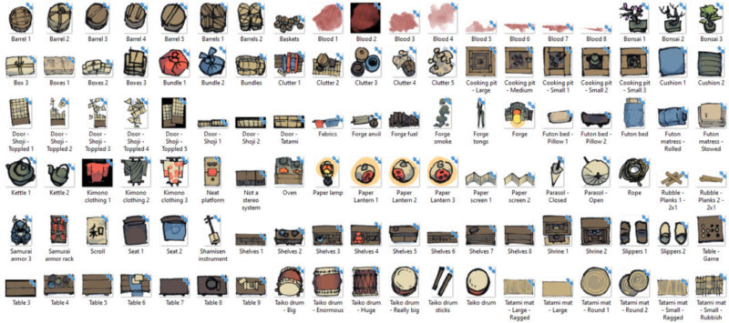 Japanese Furniture Map Assets - Banner preview 1