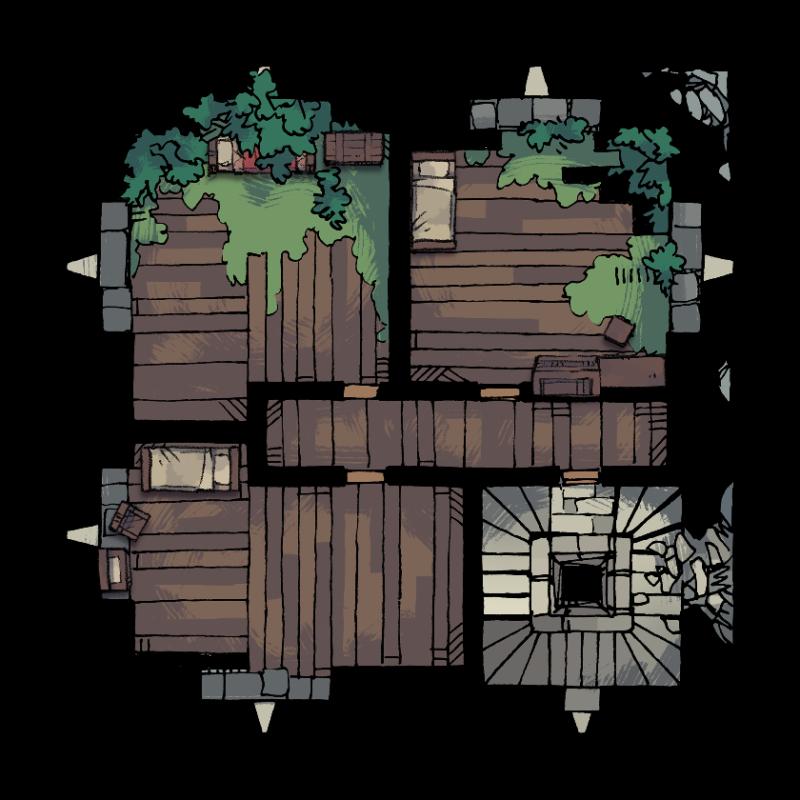 Verdantguard Keep, Floor 2 (12x12)