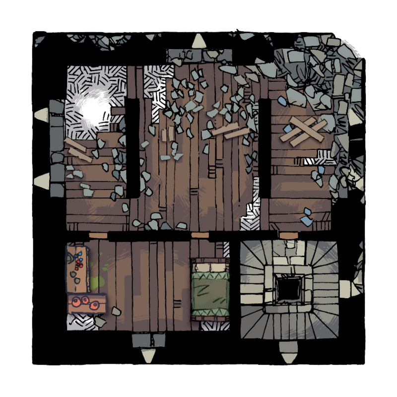 Verdantguard Keep, Floor 3 (12x12)