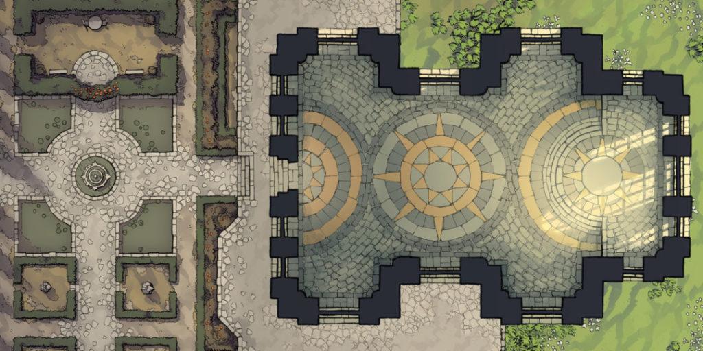 Celestial Temple Battle Map banner