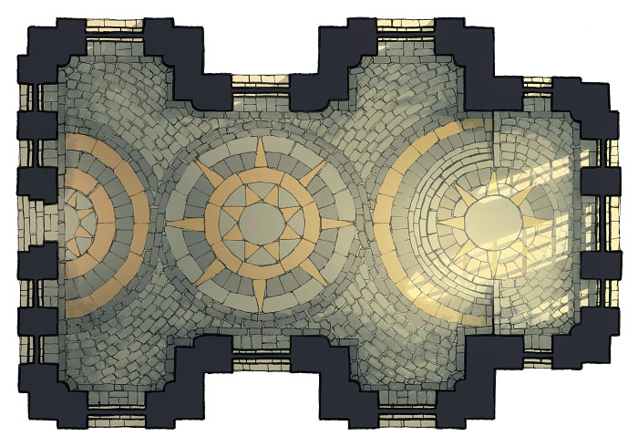 Celestial Temple - Enclosed 1 - 16x22