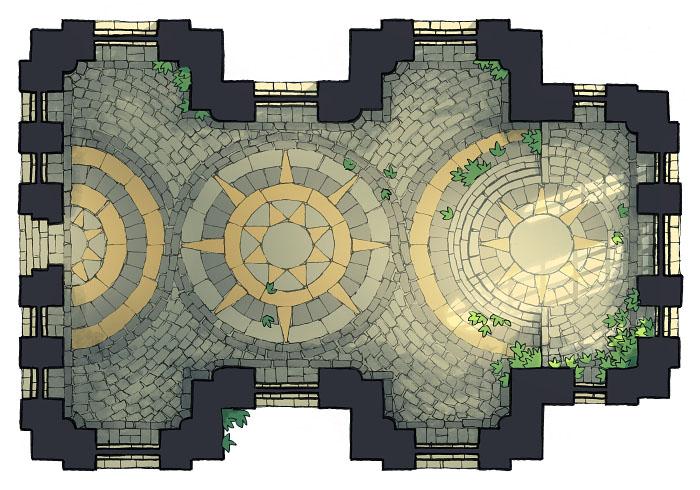 Celestial Temple - Enclosed 2 - 16x22