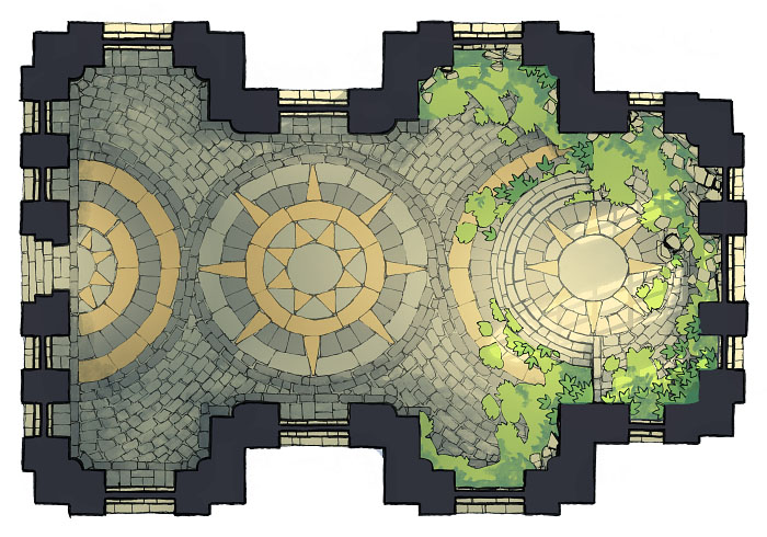 Celestial Temple - Enclosed 3 - 16x22