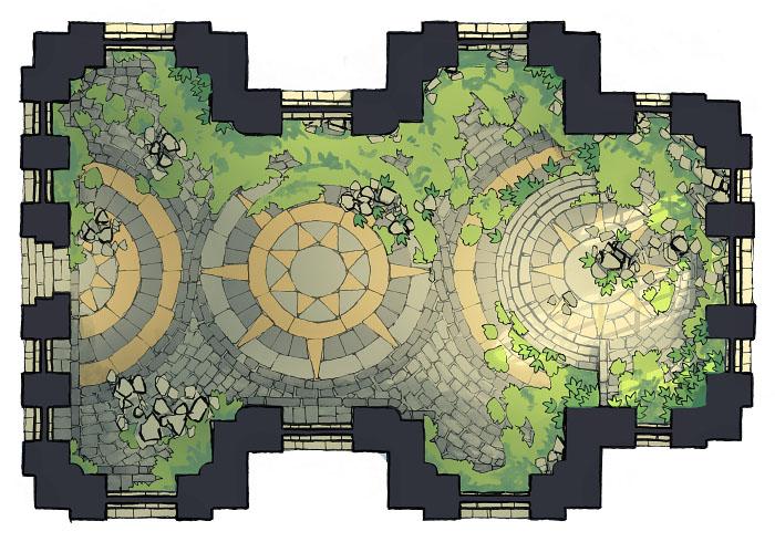 Celestial Temple - Enclosed 4 - 16x22