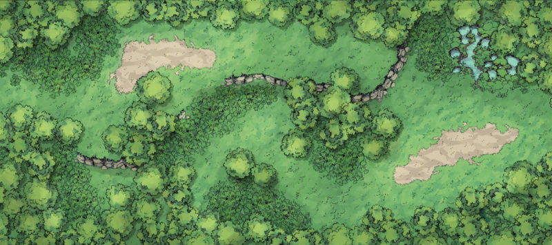 Forest Floor Battle Map - Nostalgic Trail banner