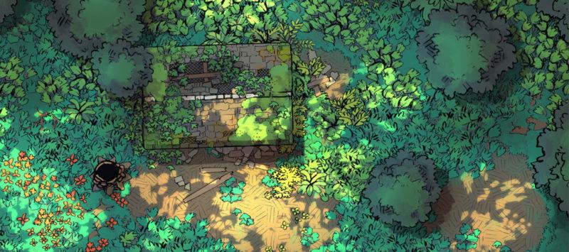 Forest Floor Battle Map - Sun-Dappled Clearing banner