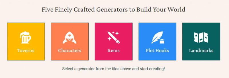 Here Be Taverns Worldbuilding Generators
