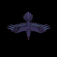 Auga the Raven creature token