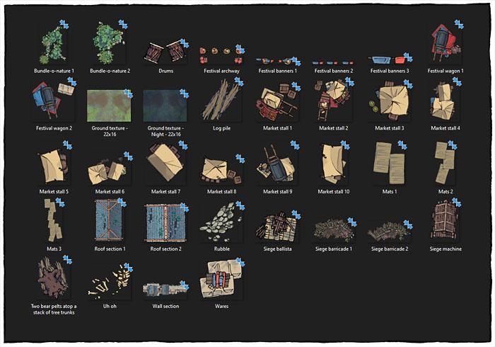 City Gates battle map - Assets preview