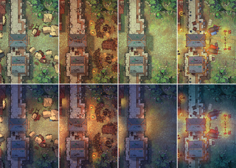 City Gates battle map - Extended variants preview
