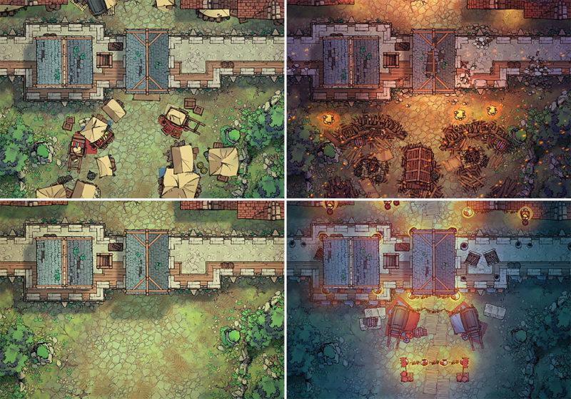 City Gates battle map - Variants preview