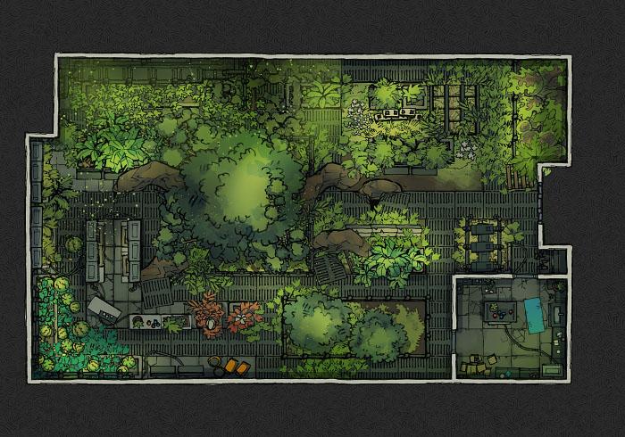 Secret Research Facility - Greenhouse B (22x16)