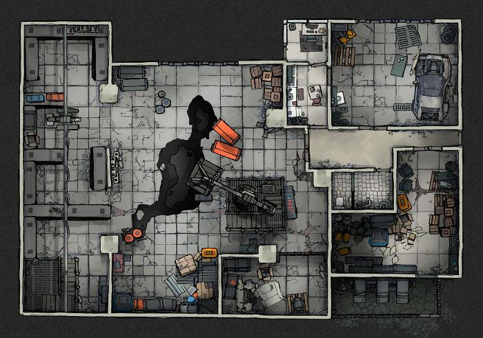 Secret Research Facility - Warehouse A (22x16)