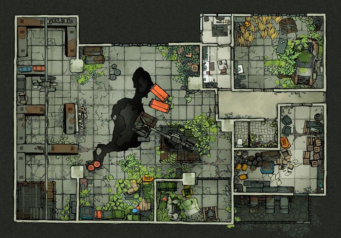 Secret Research Facility - Warehouse B (22x16)