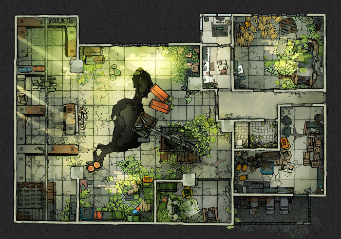 Secret Research Facility - Warehouse C (22x16)