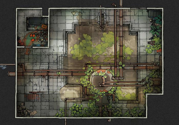Secret Research Facility - Water Treatment Plant - Floor 1 B (22x16)