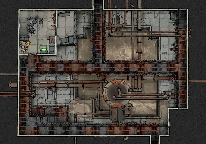 Secret Research Facility - Water Treatment Plant - Floor 2 A (22x16)