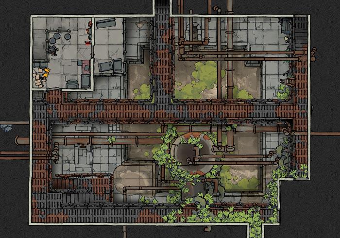 Secret Research Facility - Water Treatment Plant - Floor 2 B (22x16)