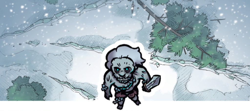 Fear in Frost Icy Monsters Banner - Large