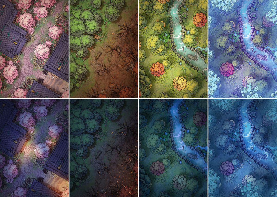 Forest Treetop Map Assets - Variants preview