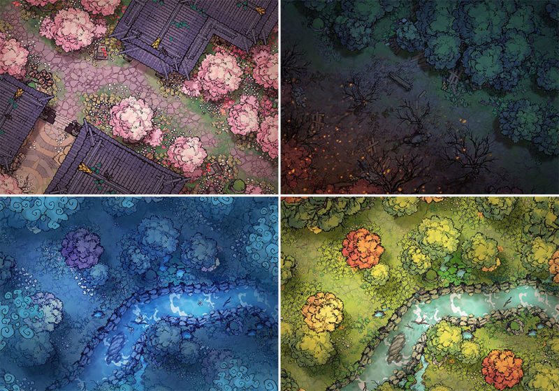 Forest Treetop Map Assets - Variants small preview