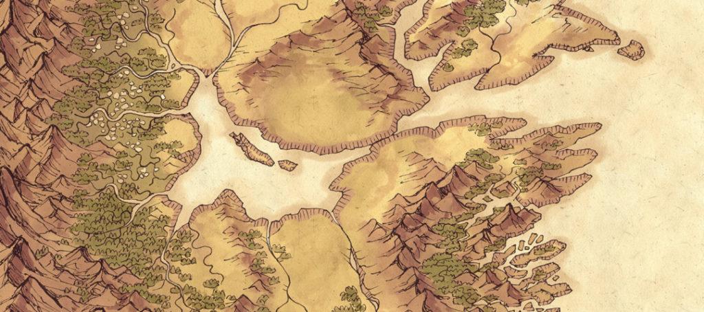Lands of Roulimar region map - Banner