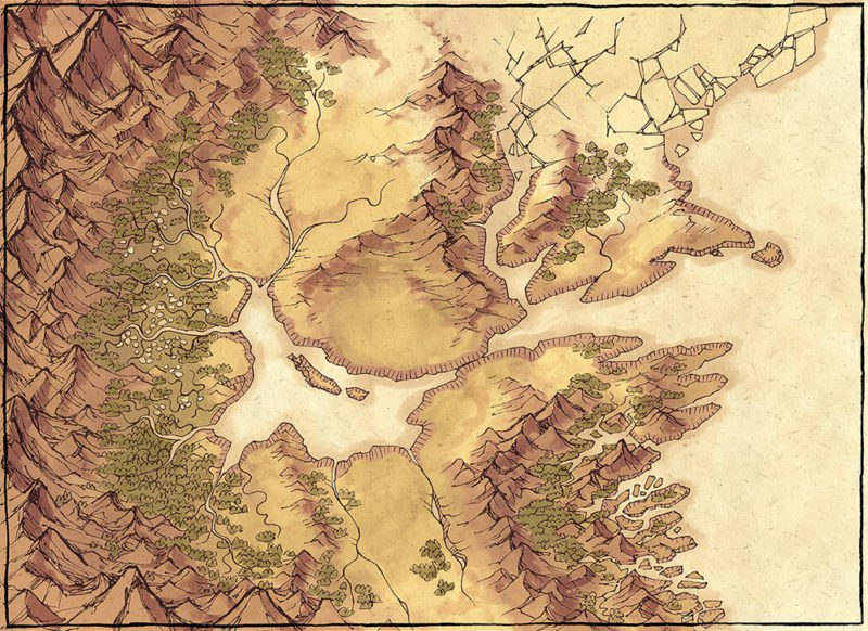 Lands of Roulimar region map - Large preview