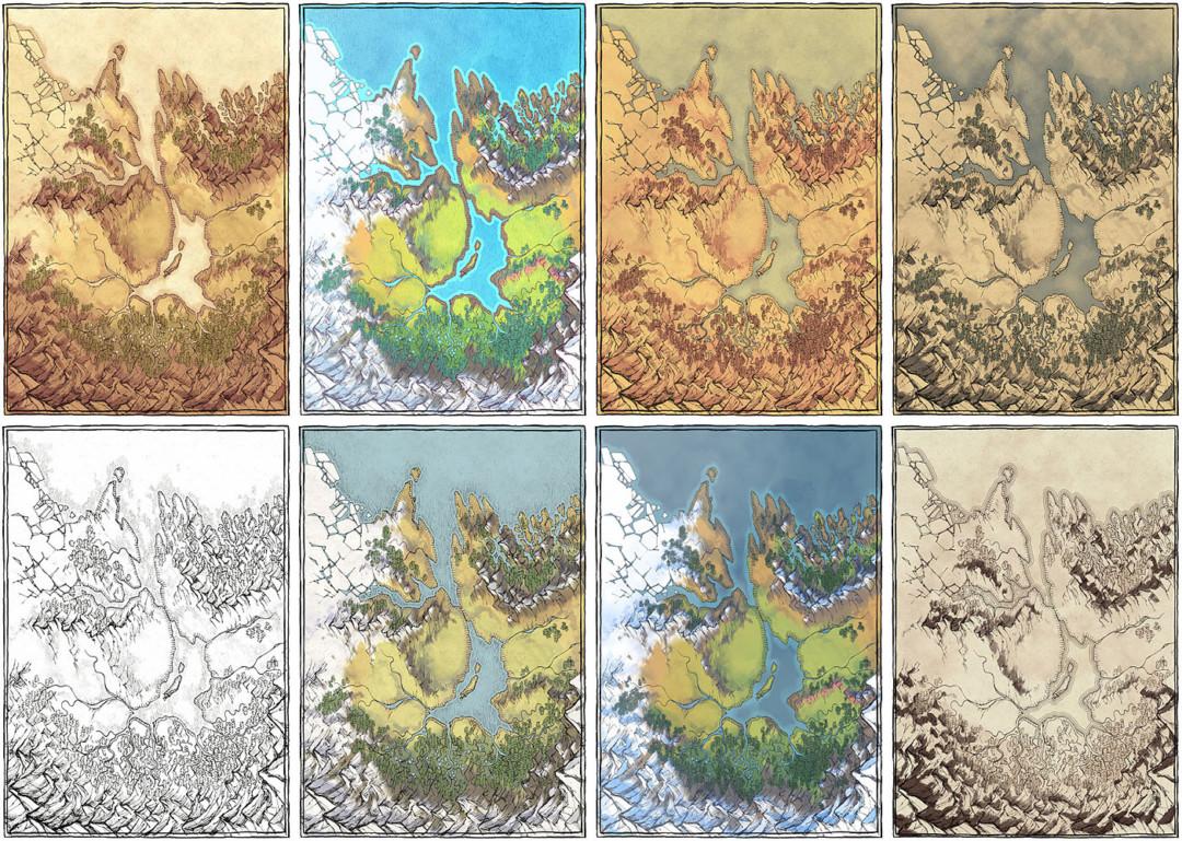 Lands of Roulimar region map - Variants banner