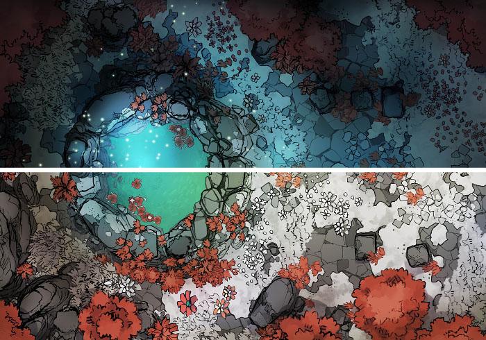 Sacred Spring - Fey - 16x22