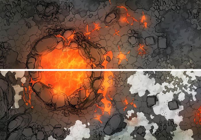 Sacred Spring - Volcanic - 16x22