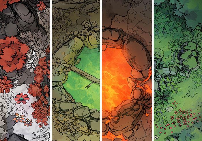 Sacred Spring battle map - Cropped variants