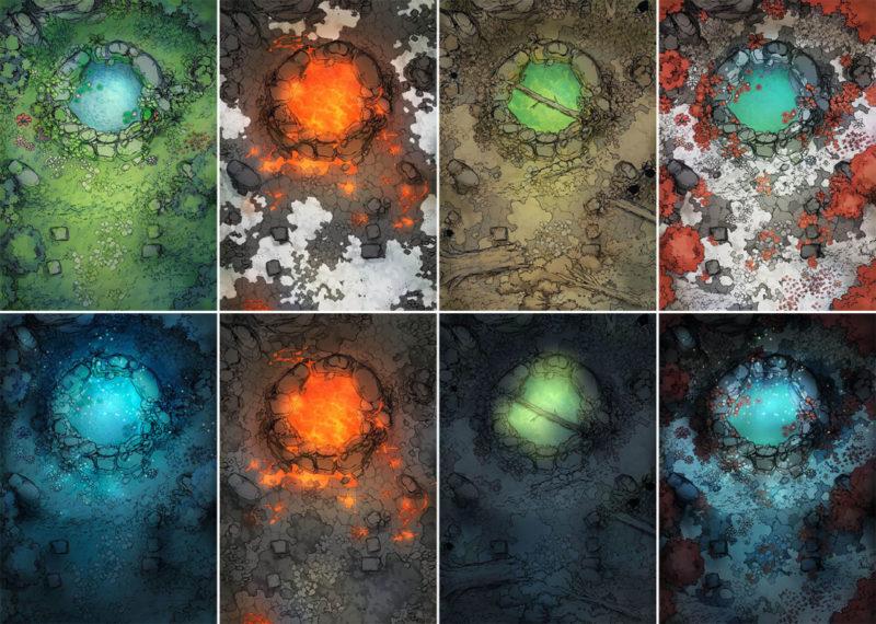 Sacred Spring battle map - Variants extended preview