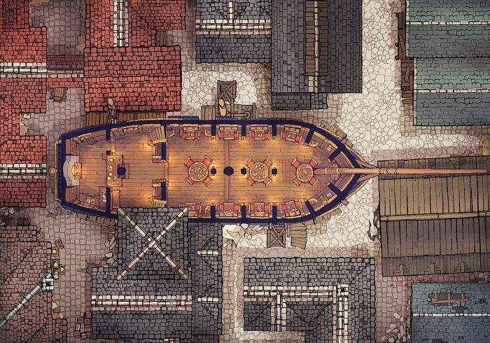 Sailing Chef - Cityscape - Day - Interior - 32x22