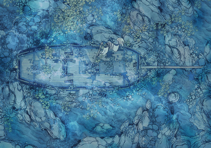 Sailing Chef - Seabed - Exterior - 32x22