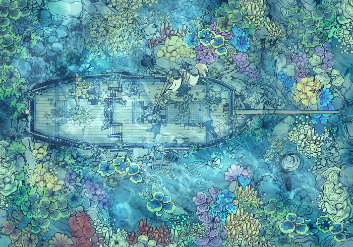 Sailing Chef - Seabed - Reef - Exterior - 32x22