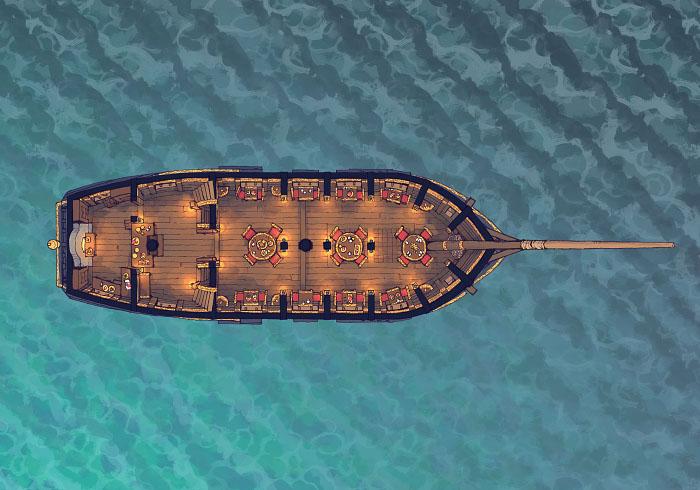 Sailing Chef - Seafaring - Day - Interior - 32x22