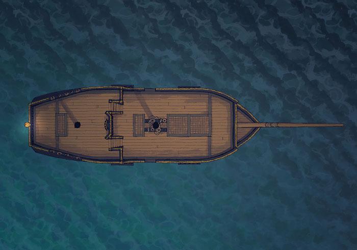 Sailing Chef - Seafaring - Night - Exterior - 32x22
