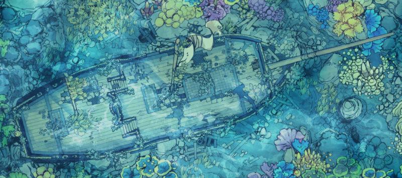 Sailing Chef battle map - Underwater banner