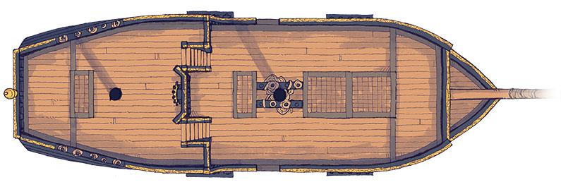 Sailing Chef ship battle map - Exterior