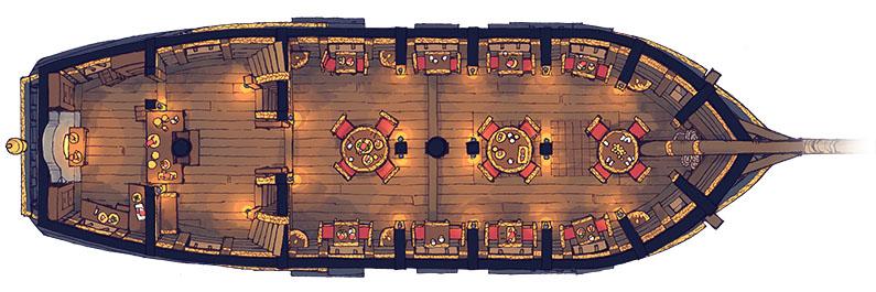 Sailing Chef ship battle map - Interior