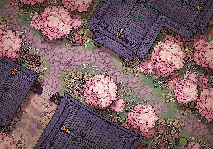 Sakura Street - Day - 22x16