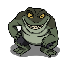 Weretoad monster token