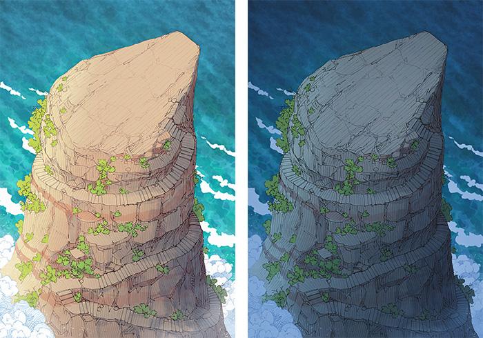 Anvil Rock battle map - Sea