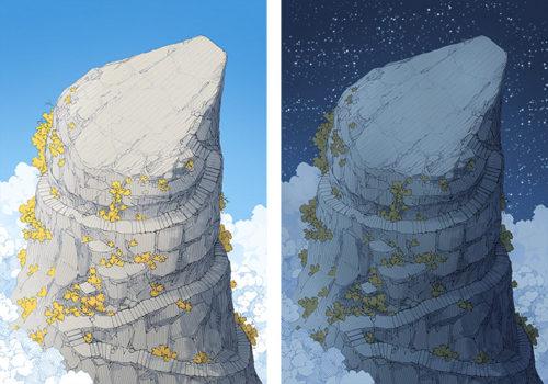 Anvil Rock battle map - Sky