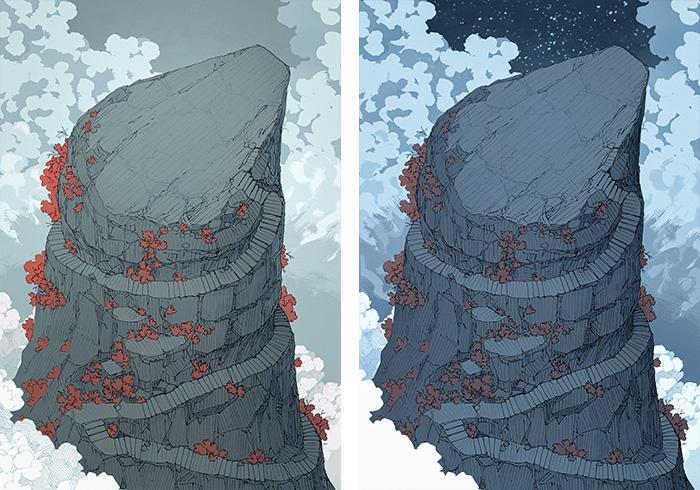 Anvil Rock battle map - Storm