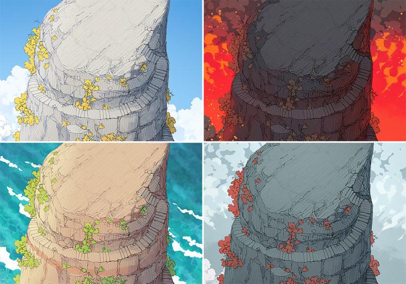 Anvil Rock battle map variants