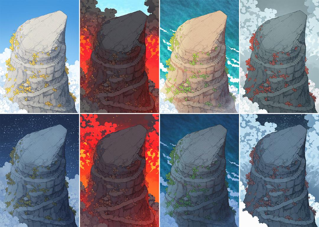 Anvil Rock battle map variants - Extended preview
